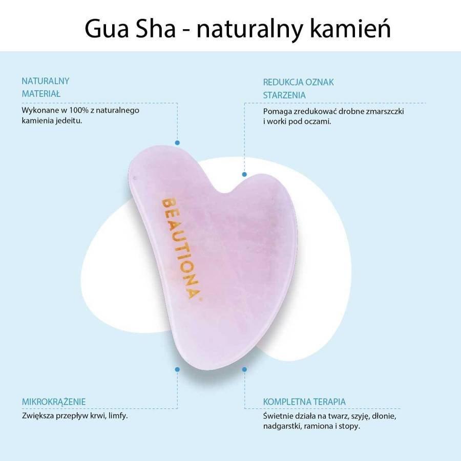 Kamień Gua Sha Opalizująca Płytka do Masażu Twarzy Guasha Jadeit